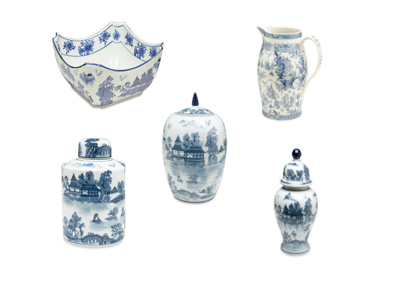 One Kings Lane Blue and White Porcelain