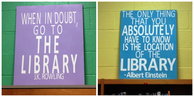Library Quote Canvases
