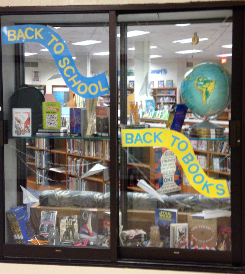 Back to School Back to Books Library Display