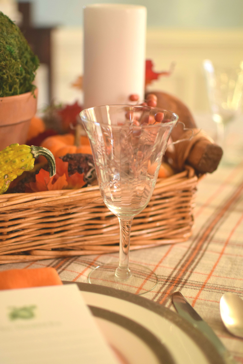 Thanksgiving Table Setting - Wheat Glass