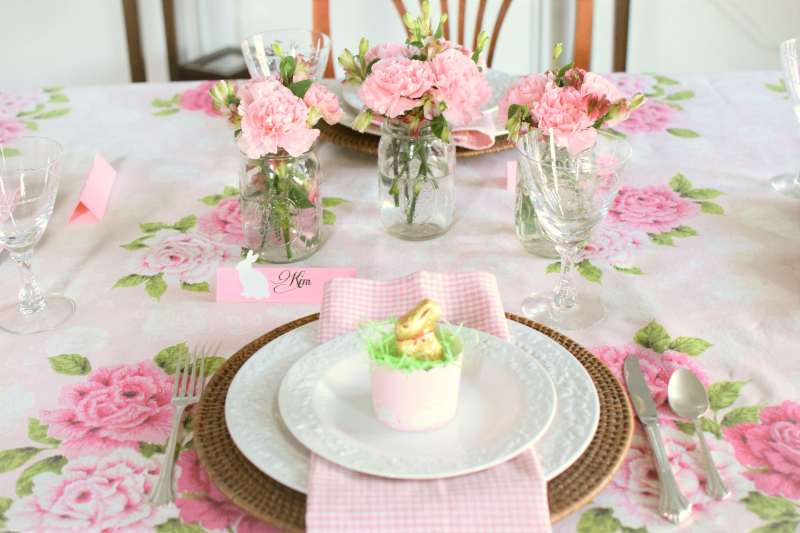 Pink Easter Tablescape 6