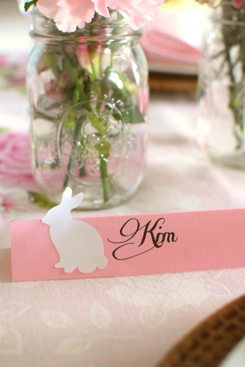 Pink Easter Tablescape 2