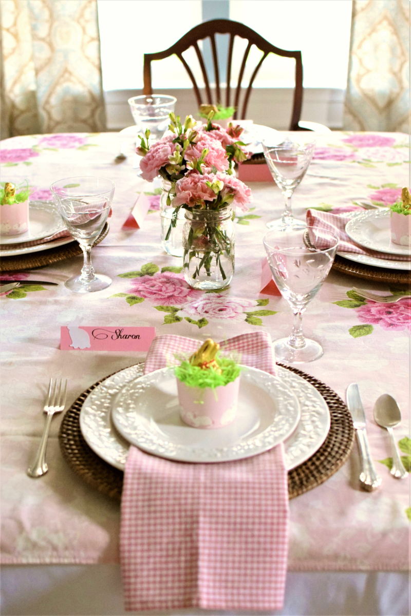 Pink Easter Tablescape 4