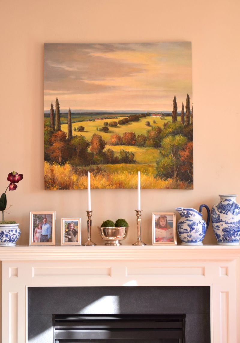 Tuscan painting in living room