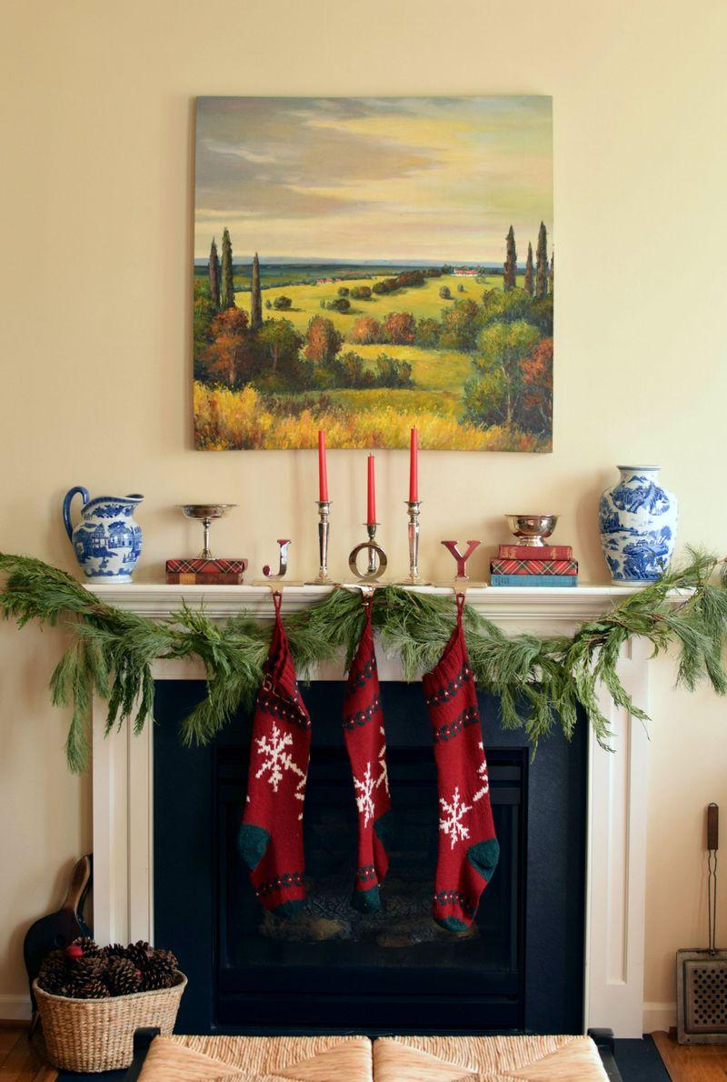 Tartan and stockings christmas