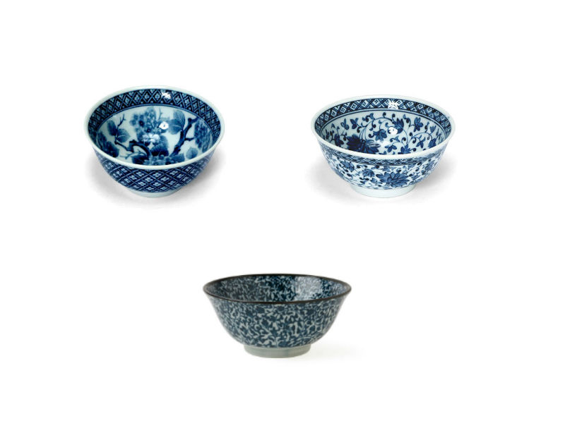 Pearl River Blue and White Bowls