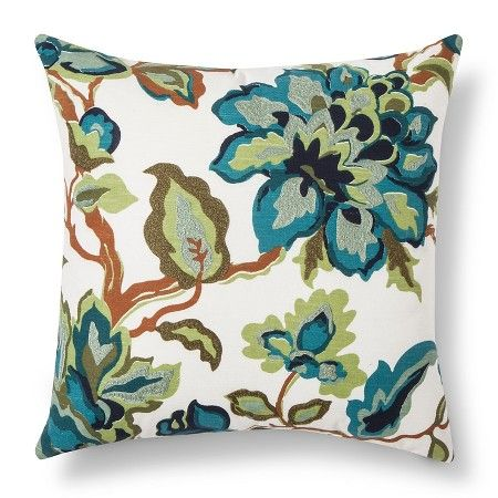 Cool Floral Throw Pillow - Threshold