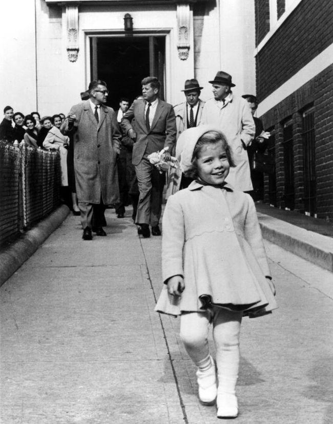 President Kennedy Caroline Kennedy 1960